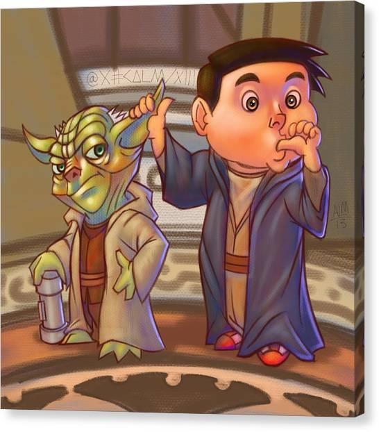 Padawan Canvas Print - Jedi Of A Kind  by Anthony Mata