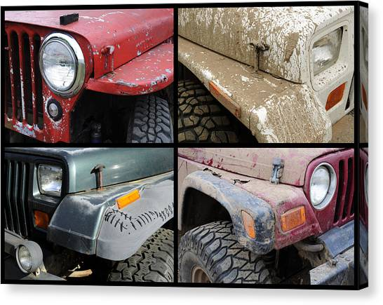 Offroading Canvas Print - Jeep 4x4 by Luke Moore