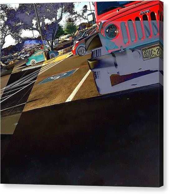 Jeep Canvas Print - Jeep:  #instagramhub #instacool by Jimmy Aldridge