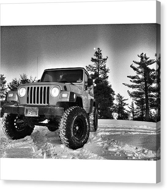 Offroading Canvas Print - @jeep_freeks My snow Run 😜 by James Crawshaw