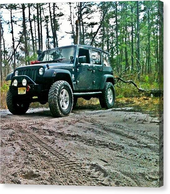 Offroading Canvas Print - #jeepjk #jeep #offroad #jeeping #jk by Matthew Loving