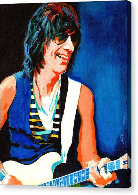Jeff Beck. Brush With The Blues Canvas Print