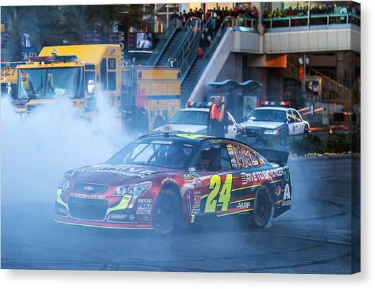 Racecar Drivers Canvas Print - Jeff Gordon by James Marvin Phelps