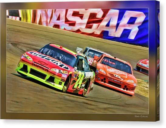 Jeff Gordon-nascar Race Canvas Print