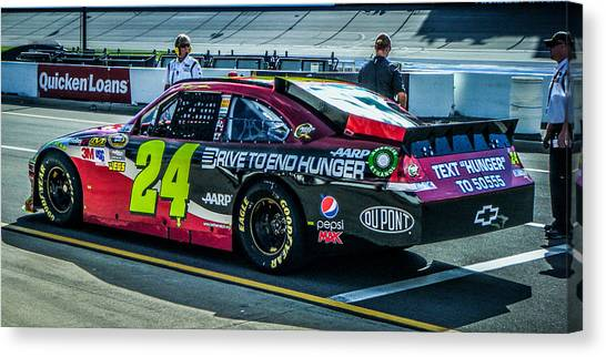Jeff Gordon Canvas Print - Jeff Gordon Pit Road by Alex Cianfarani