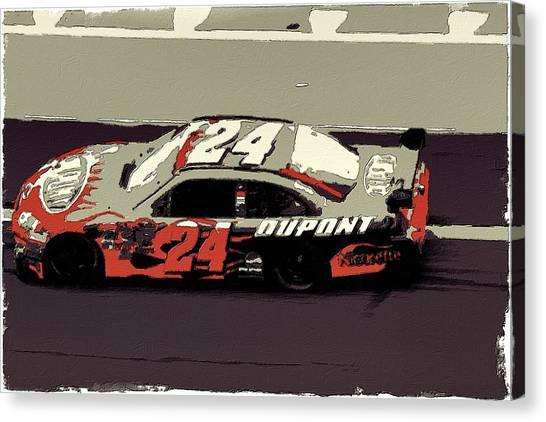 Racecar Drivers Canvas Print - Jeff Gordon Poster Art by Florian Rodarte
