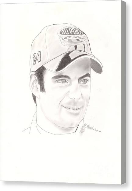 Jeff Gordon Canvas Print - Jeff Gordon by Vincent Turner