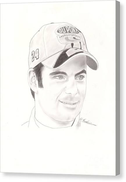Jeff Gordon Canvas Print - Jeff Gordon by Vincent Turner