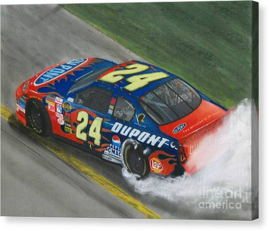 Nascar Canvas Print - Jeff Gordon Wins by Paul Kuras