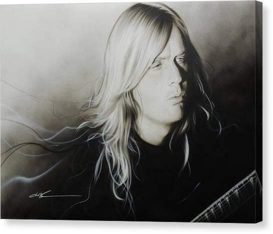 Jeff Hanneman Canvas Print - Jeff H by Christian Chapman Art