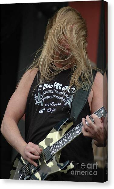 Jeff Hanneman Canvas Print - Jeff Hanneman From Slayer by Jenny Potter