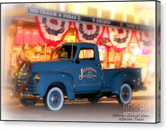Jefferson General Store 51 Chevy Pickup Canvas Print