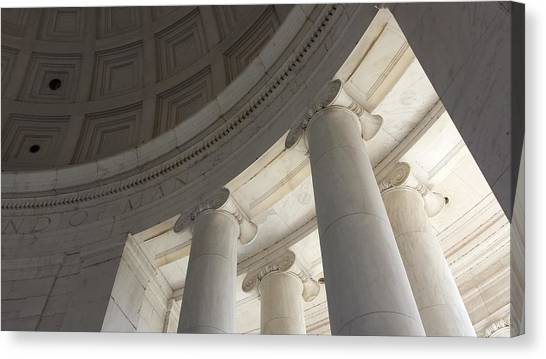 Jefferson Memorial Architecture Canvas Print