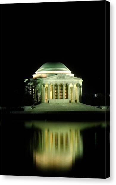 Jefferson Memorial At Night Canvas Print