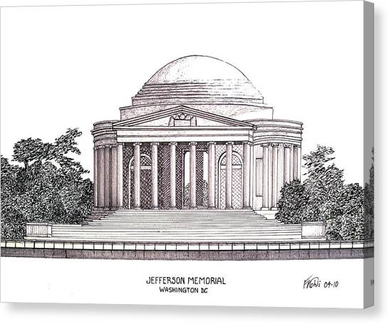 Jefferson Memorial Canvas Print - Jefferson Memorial by Frederic Kohli