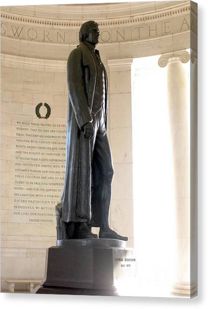 Washington D.c Canvas Print - Jefferson Memorial In Washington Dc by Olivier Le Queinec