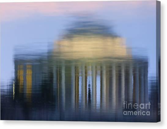 Jefferson Memorial Reflection Canvas Print