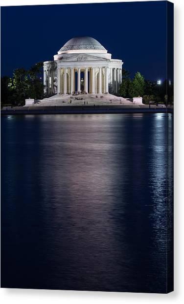 Jefferson Memorial Canvas Print - Jefferson Memorial Washington D C by Steve Gadomski