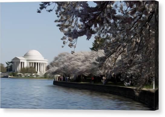 Jeffersonian Blossoms Canvas Print by Kelvin Booker