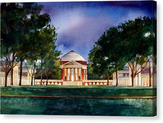 University Of Virginia Canvas Print - Jeffersons Lawn University Of Virginia by Jim Smither