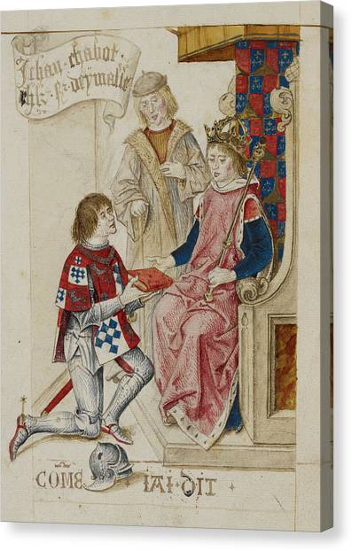 Presentations Canvas Print - Jehan Chabot And Henry Vii by British Library