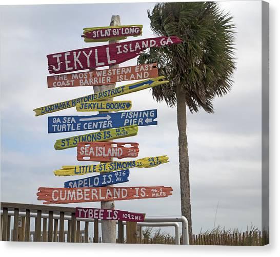Simon Canvas Print - Jekyll Island Where To Go by Betsy Knapp
