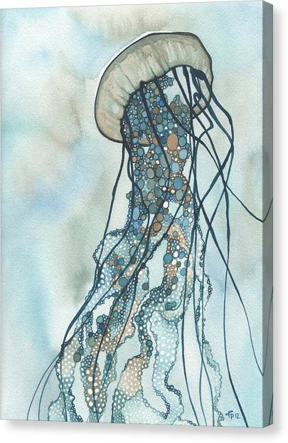 Organic Canvas Print - Jellyfish Three by Tamara Phillips
