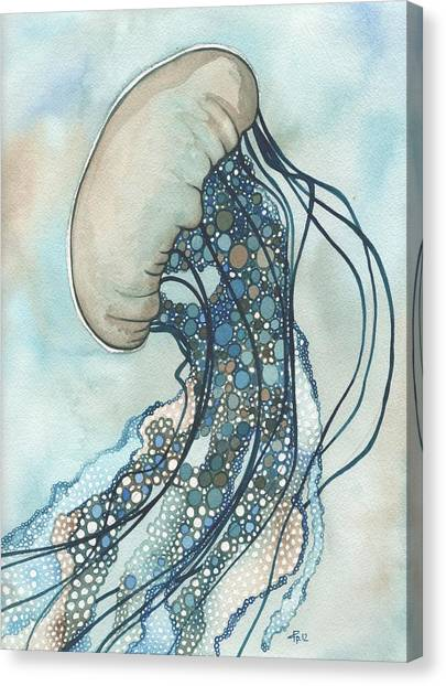 Organic Canvas Print - Jellyfish Two by Tamara Phillips