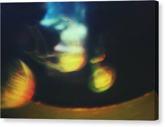 Jellyfish Ultrasound Canvas Print by Claudia Avila