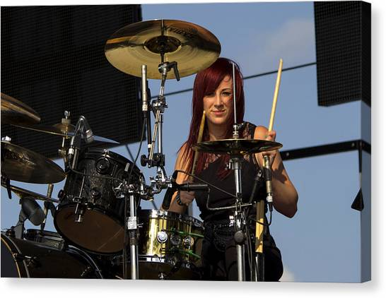 Bands Canvas Print - Jen Ledger Of Skillet by Billy Torma
