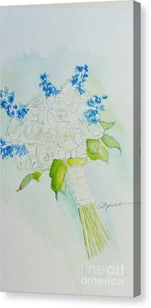 Jennifer's Wedding Bouquet Canvas Print