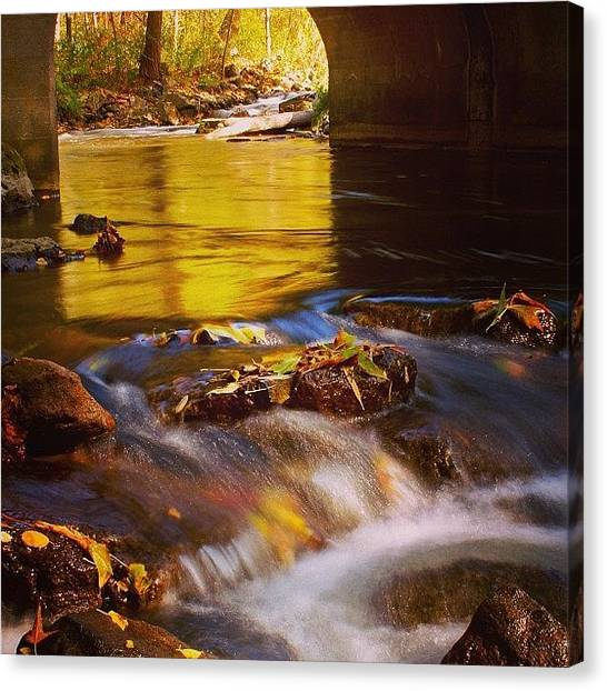 Waterfalls Canvas Print - Jenn's Choice by Justin Connor
