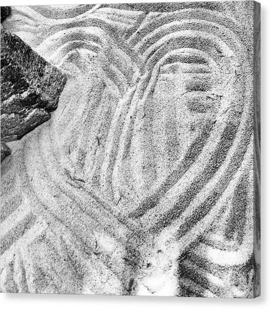 White Sand Canvas Print - Jenn's Heart by Judi FitzPatrick