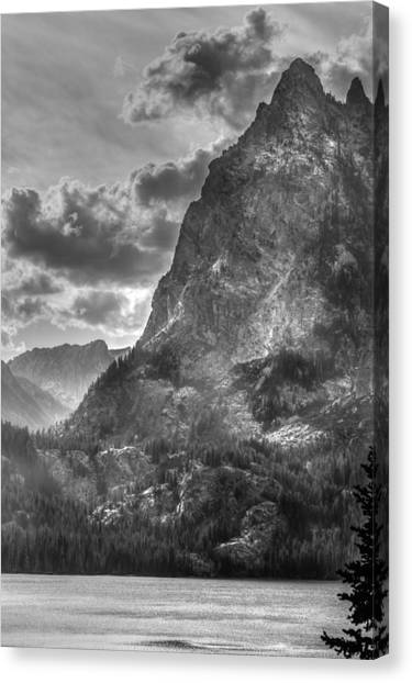 Jenny Lake In Shadow Canvas Print