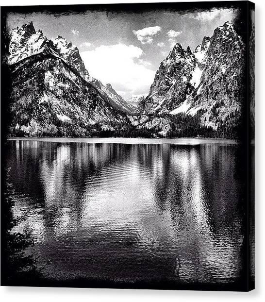 Tetons Canvas Print - Jenny Lake by Lisa King