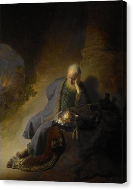 Rijksmuseum Canvas Print - Jeremiah Lamenting The Destruction Of Jerusalem by Rembrandt van Rijn