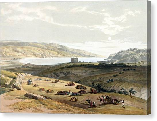 Palestinian Canvas Print - Jericho by Munir Alawi