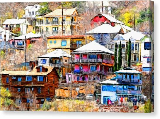 Jerome Arizona Hillside Houses Canvas Print