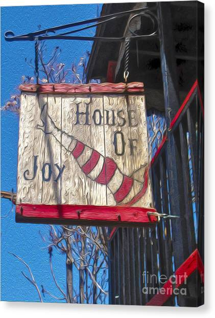 Jerome Arizona - House Of  Joy - Whorehouse Sign Canvas Print