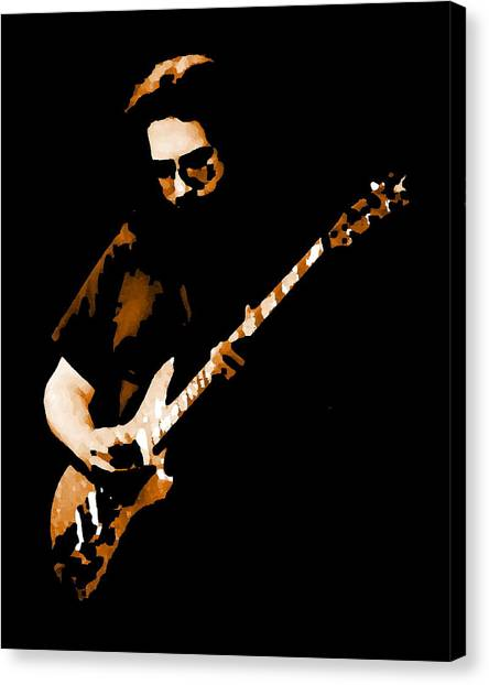 Jerry And His Guitar Canvas Print