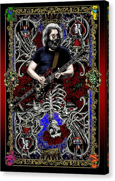 Rock And Roll Canvas Print - Jerry Card by Gary Kroman