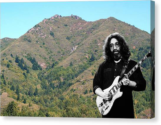 Canvas Print featuring the photograph Jerry Garcia And Mount Tamalpais by Ben Upham III