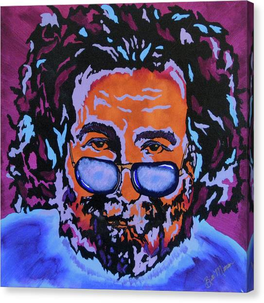 Grateful Dead Canvas Print - Jerry Garcia-it's A Me Thing by Bill Manson