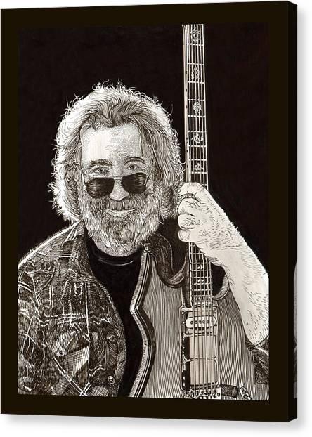 Jerry Garcia String Beard Guitar Canvas Print