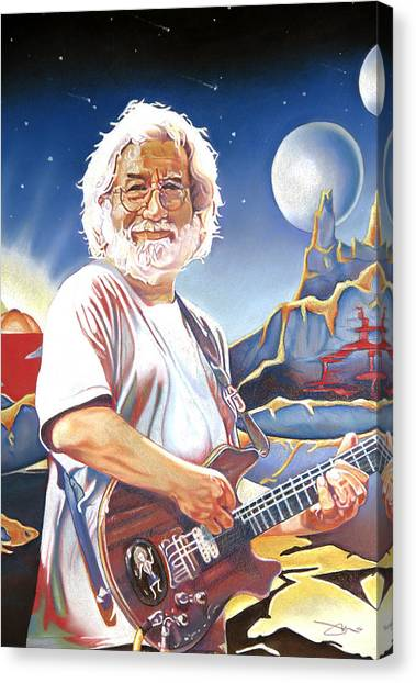 Grateful Dead Canvas Print - Jerry Garcia Live At The Mars Hotel by Joshua Morton