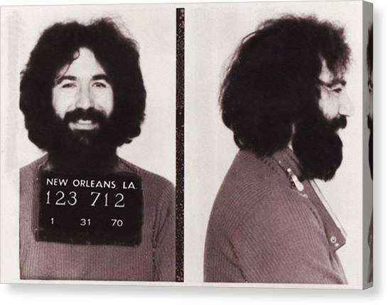 Jerry Garcia Mugshot Canvas Print