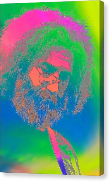 The Legion Canvas Print - Jerry Garcia Tie Dye by Dan Sproul