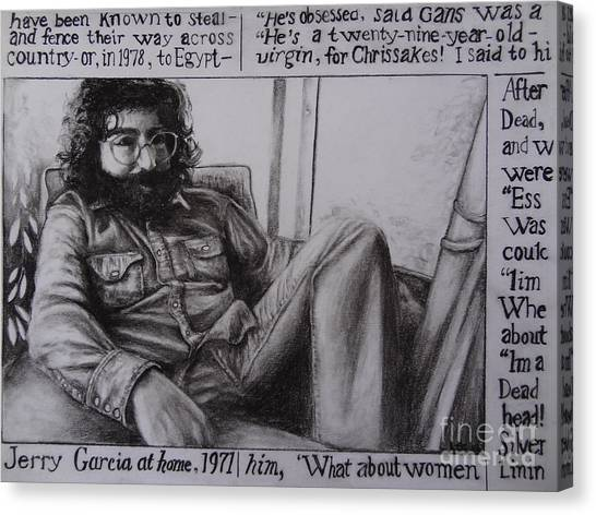 Jerry Garcia....taken From Rollingstone Interview 1972 Canvas Print