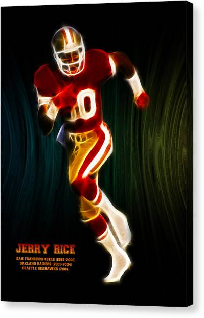 San Francisco 49ers Canvas Print - Jerry Rice by Aged Pixel