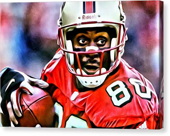 Jerry Rice Canvas Print - Jerry Rice by Florian Rodarte